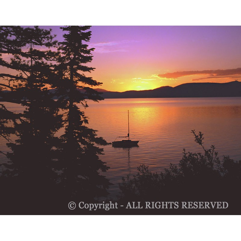 Lake Tahoe Afterglow  (canvas)