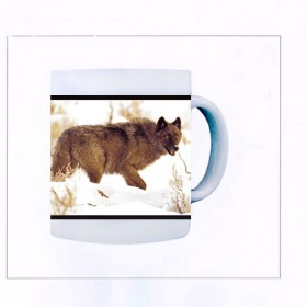 Yellowstone Gray Wolf Mug